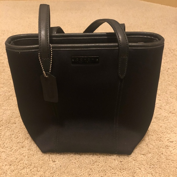 Coach Handbags - Coach Black Neoprene and Leather Tote Bag Purse